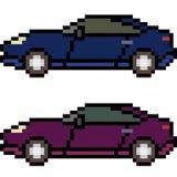 Vector pixel art car Royalty Free Stock Photo
