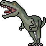 Vector pixel art carnivore dinosaur. Isolated cartoon vector illustration