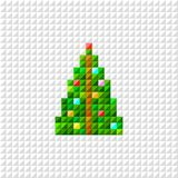 Vector Pixel art Christmas tree. Christmas pixel pine vector illustration