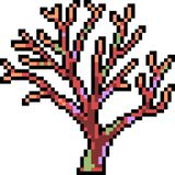Vector pixel art coral decoration. Isolated Stock Photos