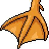 Vector pixel art duck foot. Isolated cartoon royalty free illustration