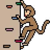 Vector pixel art fake cliff climb Stock Photos