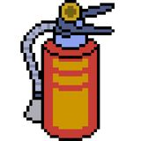 Vector pixel art fire extinguisher.  Royalty Free Stock Photos