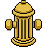 Vector pixel art fire hydrant. Isolated cartoon Stock Photo