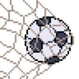 Vector pixel art football. Isolated stock illustration