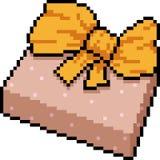 Vector pixel art gift box Stock Images