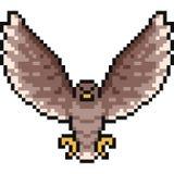 Vector pixel art hawk. Isolated stock illustration