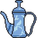 Vector pixel art jar. Isolated Stock Image