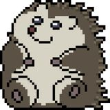 Vector pixel art porcupine. Isolated Stock Images