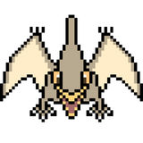 Vector pixel art pteranodon Royalty Free Stock Photo