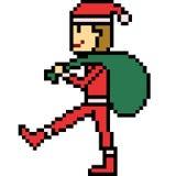 Vector pixel art santa bag Stock Images