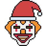 Vector pixel art santa clown. Isolated royalty free illustration