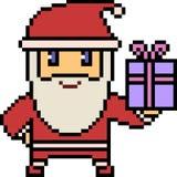 Vector pixel art santa Stock Images