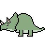 Dinosaur Pixel Stock Illustrations - 102 Dinosaur Pixel ...