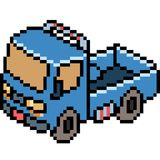 Vector pixel art truck. Isolated Royalty Free Stock Photo