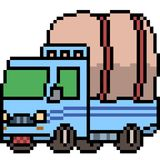 Vector pixel art truck. Isolated Royalty Free Stock Photography
