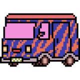 Vector pixel art van Royalty Free Stock Photo