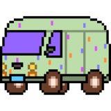 Vector pixel art van Stock Image