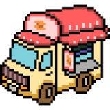 Vector pixel art van truck Royalty Free Stock Images