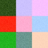 Vector pixel backgrounds set of different colors. Stock Photos