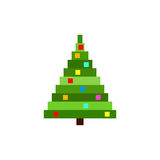 Vector Pixel Christmas tree. Royalty Free Stock Image