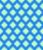 Vector pixel circles seamless pattern Royalty Free Stock Image