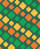 Vector pixel elements diagonally seamless pattern Stock Images
