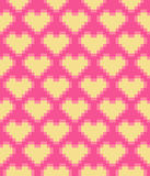 Vector pixel hearts seamless pattern Royalty Free Stock Photography