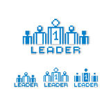 Vector pixel icon isolated, 8bit graphic element. Leader concept Royalty Free Stock Photo