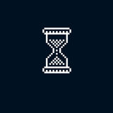 Vector pixel icon isolated, 8bit graphic element. Simplistic hou Royalty Free Stock Image