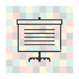 Vector pixel icon screen for presentations Stock Image