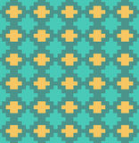 Vector pixel lattice seamless pattern Stock Photos