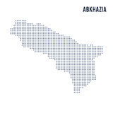 Vector pixel map of Abkhazia isolated on white background Royalty Free Stock Image