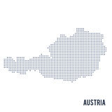 Vector pixel map of Austria isolated on white background Royalty Free Stock Image