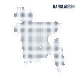 Vector pixel map of Bangladesh isolated on white background Stock Image