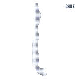 Vector pixel map of Chile isolated on white background Royalty Free Stock Photography