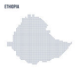Vector pixel map of Ethiopia isolated on white background Stock Photography