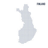 Vector pixel map of Finland isolated on white background Royalty Free Stock Photography