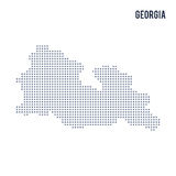 Vector pixel map of Georgia isolated on white background Royalty Free Stock Image
