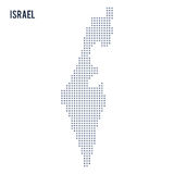 Vector pixel map of Israel isolated on white background Stock Photo