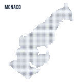 Vector pixel map of Monaco isolated on white background Stock Image