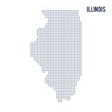 Vector pixel map State of Illinois isolated on white background. Travel  illustration Stock Image