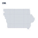 Vector pixel map State of Iowa isolated on white background Royalty Free Stock Images