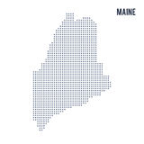 Vector pixel map State of Maine isolated on white background Stock Photo