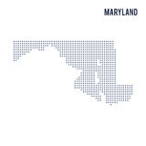 Vector pixel map State of Maryland isolated on white background Stock Images