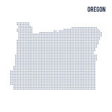 Vector pixel map State of Oregon isolated on white background Stock Images
