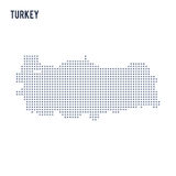 Vector pixel map of Turkey isolated on white background Royalty Free Stock Photography
