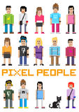 Vector Pixel People! Stock Photography