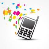 Vector pixel phone Stock Images