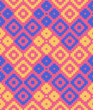 Vector pixel rhombuses seamless pattern Royalty Free Stock Images